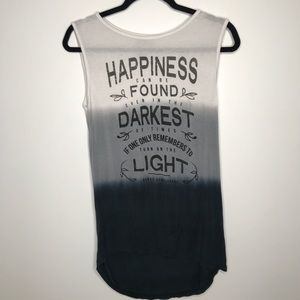 Harry Potter Dumbledore Quote Happiness Ombre Tank